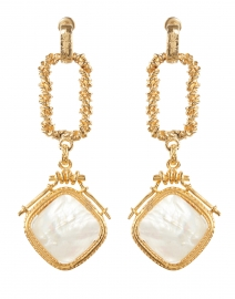 Siena Mother of Pearl Gold Drop Earrings