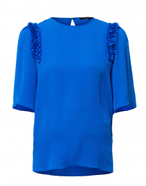 Coleen Blue Silk Blouse
