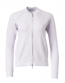 Lilac Cotton Cashmere Zip Cardigan