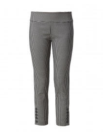 Black and White Gingham Stretch Crop Pant