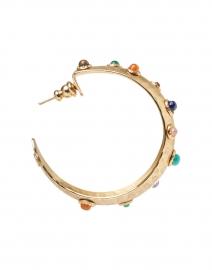 Gas Bijoux - Multicolored Cabochon Gold Hoop Earrings
