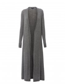 Grey Wool Cashmere Long Cardigan