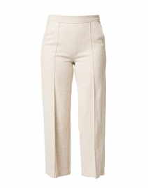 Cameron Beige Glen Check Jersey Pull-On Pant
