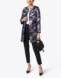 Helene Berman - Alice Navy and Gold Jacquard Jacket