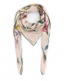 Pink Bird Silk Cashmere Scarf