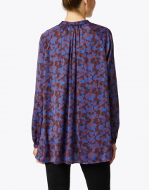 Marc Cain - Blue Black and Brown Printed Blouse