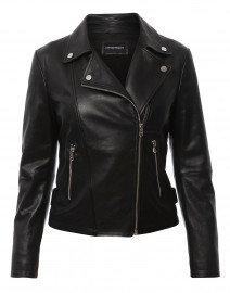 Black Zip Up Leather Jacket