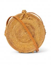Rose Natural Rattan Circle Crossbody Bag