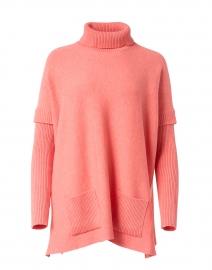 Salmon Layered Turtleneck Sweater