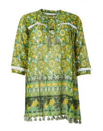 Jardana Green and Yellow Lemon Zanna Print Tunic