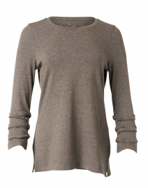 Putty Pima Cotton Ruched Sleeve Tee