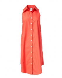 Finley - Swing Red Silky Poplin Shirt Dress