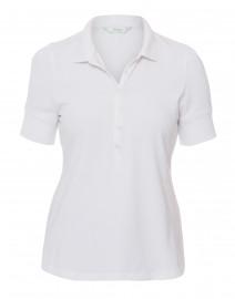 Sable White Henley  Jersey Polo Top
