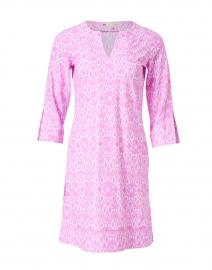 Megan Pink Diamond Ikat Print Dress