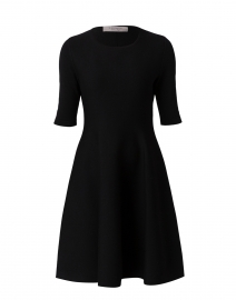 Black Double Merino Dress
