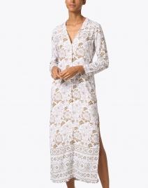 Walker & Wade - Beige Floral Print Duster Dress