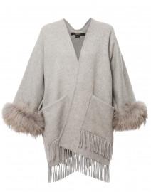 Light Grey Wool Cape