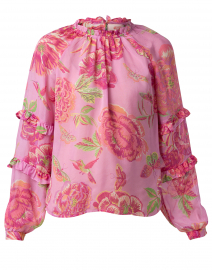 Berta Pink Floral Silk Top