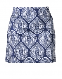 Navy Medallion Printed Skort