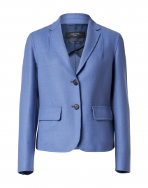 Sante Blue Wool Short Blazer