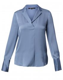 Rebekah Blue Stretch Silk Blouse