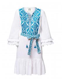 Leona White Embroidered Cotton Dress