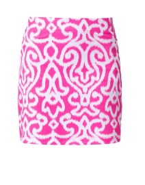 Pink and White Printed Skort
