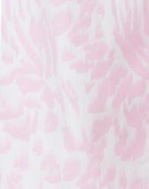 Elliott Lauren - Pink Animal Printed Stretch Cotton Five Pocket Crop Jean