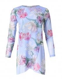 Diane Lilac Tulip Printed Mesh Top