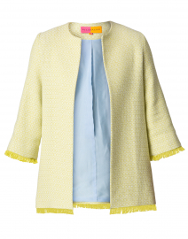 Juliet Yellow and White Tweed Jacket
