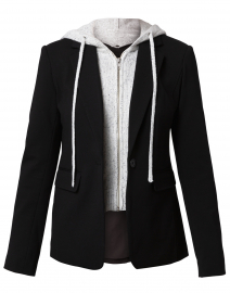 Black Blazer with Removable Hoodie
