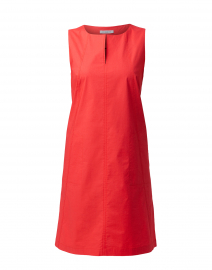 Coral Red Cotton Dress