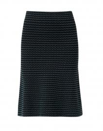 Black Multi Striped Knit Skirt
