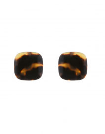 Lara Tortoise Resin Clip Earrings