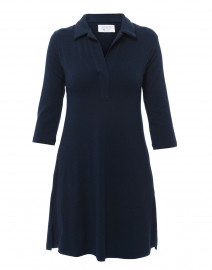 Navy Henley Bamboo-Cotton Dress