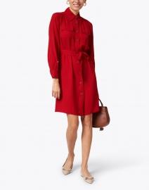 L.K. Bennett - Miller Red Crepe Shirt Dress