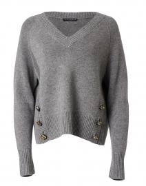 Promesse Grey Wool Blend Sweater
