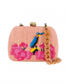 Lolita Peach Bird Embroidered Clutch