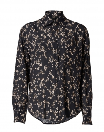Black and White Floral Print Shirt