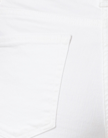 Cambio - Tess White Cropped Fringe Hem Jean