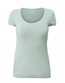 Jade Green Scoop Neck Stretch Viscose Top