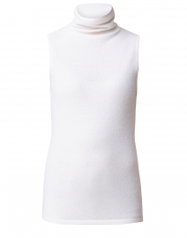 Ivory Cashmere Funnel Top