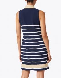 Sail to Sable - Navy and White Striped Ponte Tunic Dress