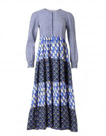 Daphne Blue and Navy Printed Shirt Dress