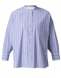 Ovada Light Blue and White Striped Cotton Shirt