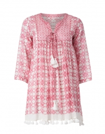 Seychelles Pink Floral Cotton Tunic