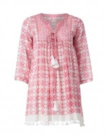 Ro's Garden - Seychelles Pink Floral Cotton Tunic