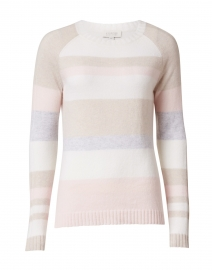 Pink, White, Beige and Blue Striped Cashmere Sweater