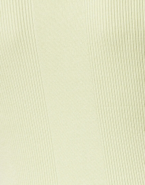 Ecru - Light Green Mixed Stitch Polo Top