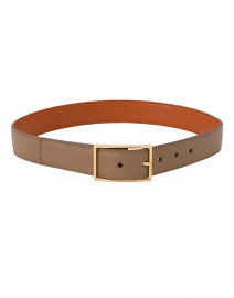 Tangerine and Camel Reversible Leather Belt